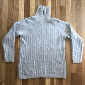 Vintage Angora and Wool Turtleneck Sweater